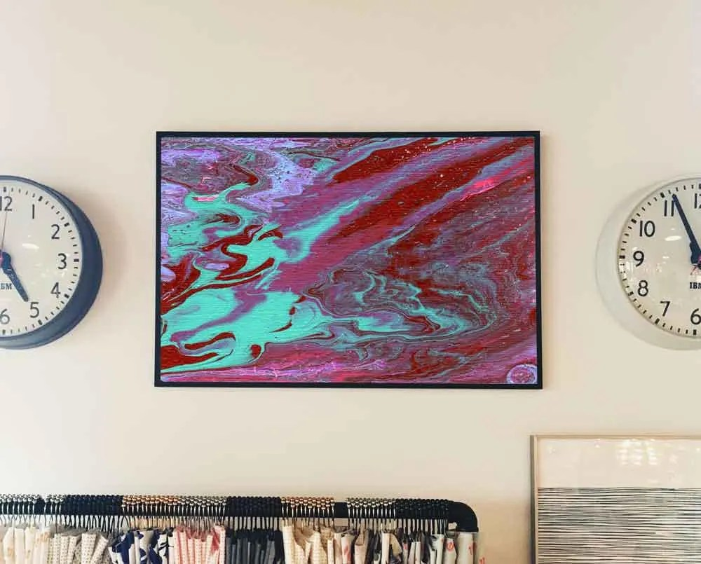 Red, blue abstract//Acryl...