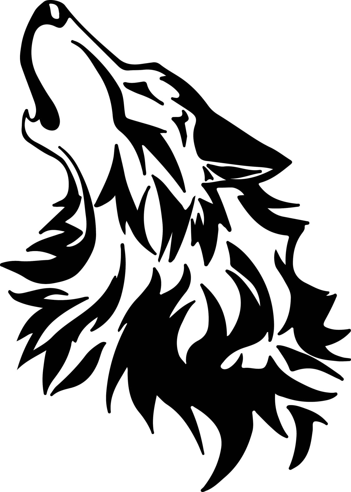 Download Wolf Svg Files Silhouettes Dxf Files Cutting files Cricut