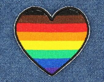 Heart Rainbow Pin Etsy