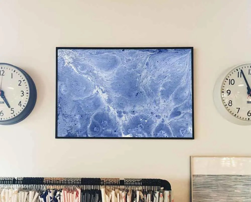 Blue and white abstract M...