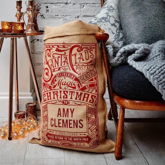 customizable santa bags