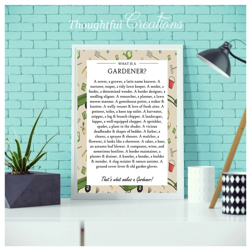 Quote Print, Gift For Gar...