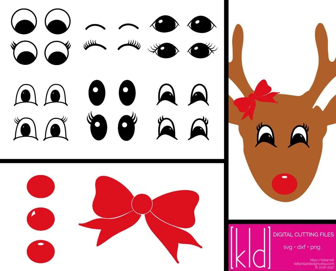 16 Santa Christmas Sack Svg Reindeer Svg Reindeer Eyes