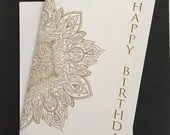 Mandala birthday card, 5&...