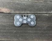 Flower pattern dog tag �...