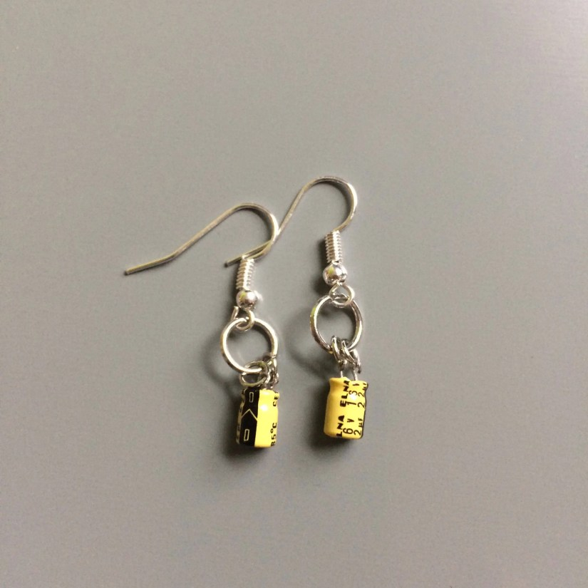 Earrings Made of Electron...