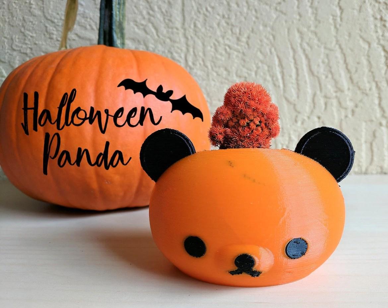 Halloween Panda Pot, Hall...