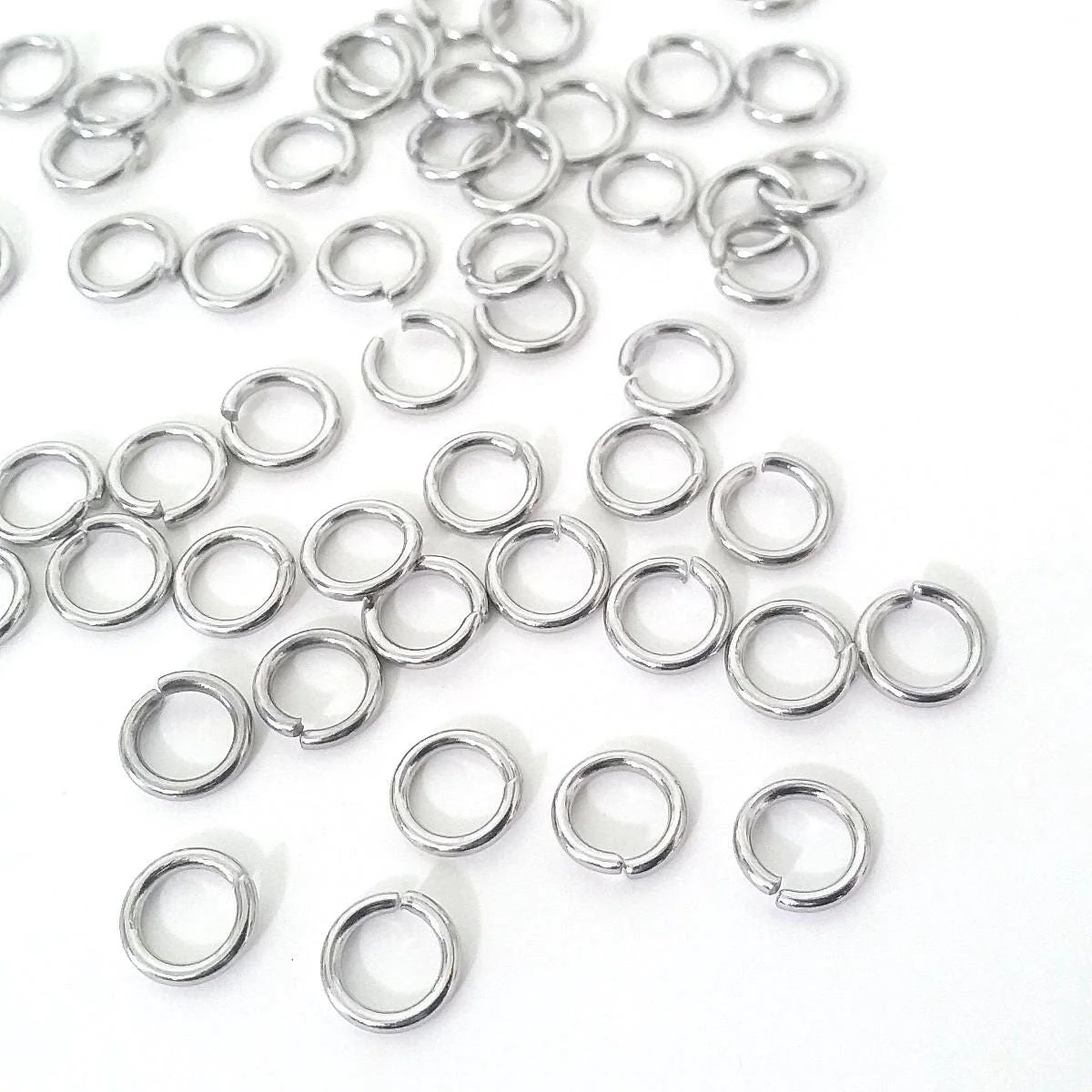 Extra Heavy Duty Jump Rings 8mm 9mm Or 10mm Diameter 15 Gauge 1 5mm Stainless Steel Jump