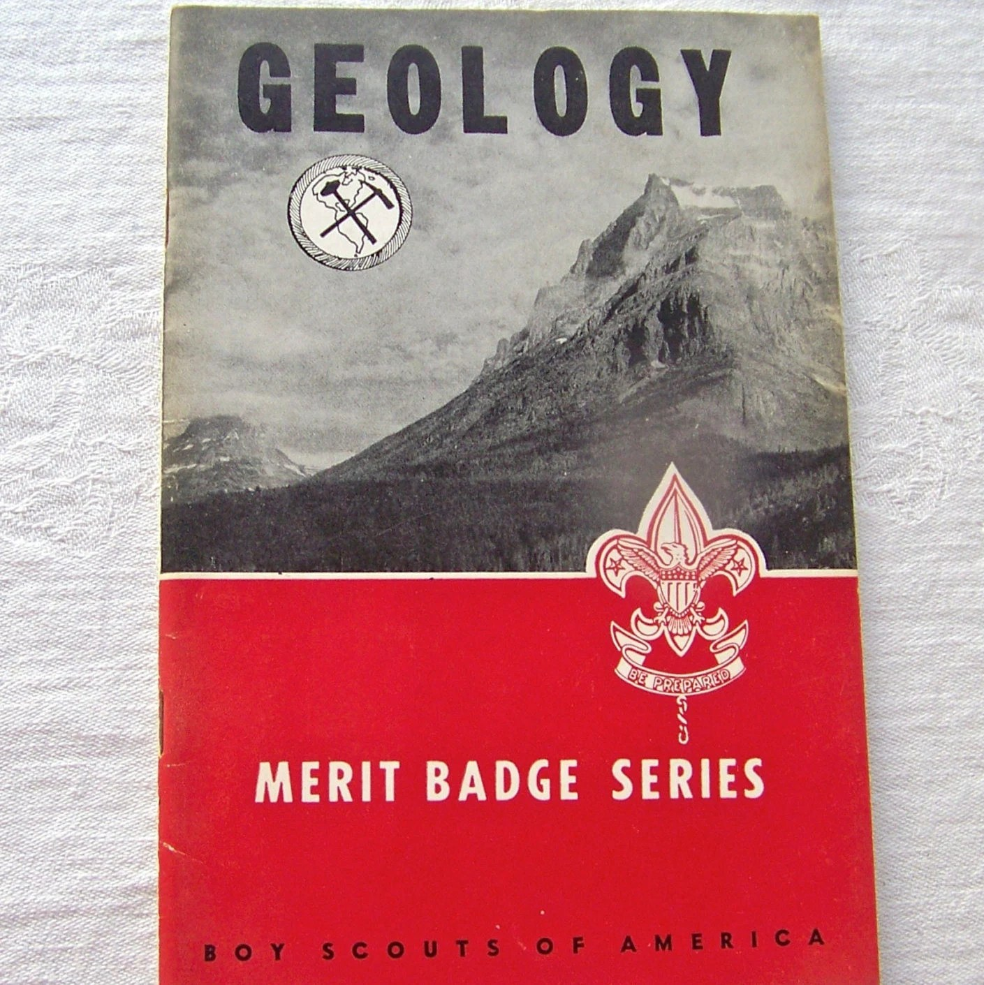 Vintage Merit Badge Guide Boy Scouts Of America Geology Merit