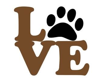 Download Dog love svg | Etsy