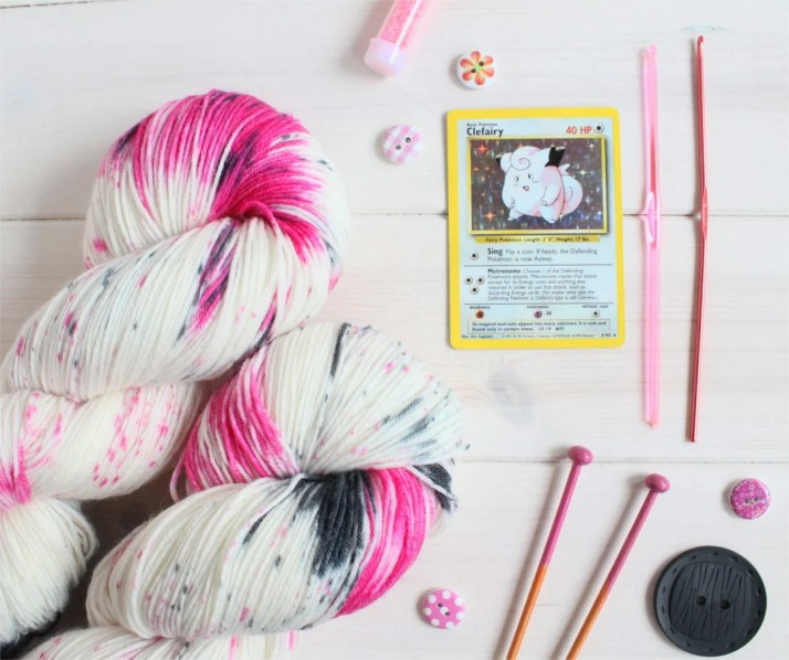 Hand dyed yarn Clefairy D...