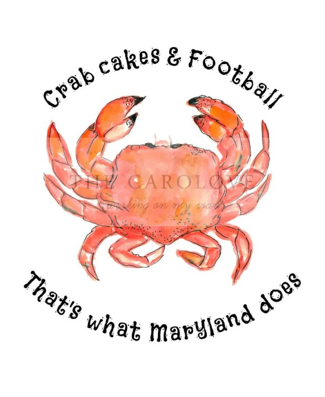 Crabcakes and football 8x...