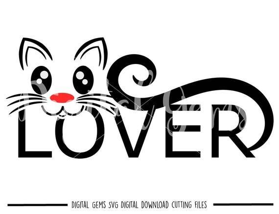 Download Cat Lover svg / dxf / eps / png files. Digital download.