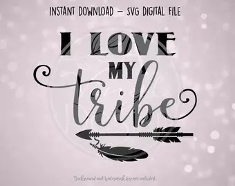 Download Love my tribe decal   Etsy