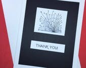 Thank You card, black and...