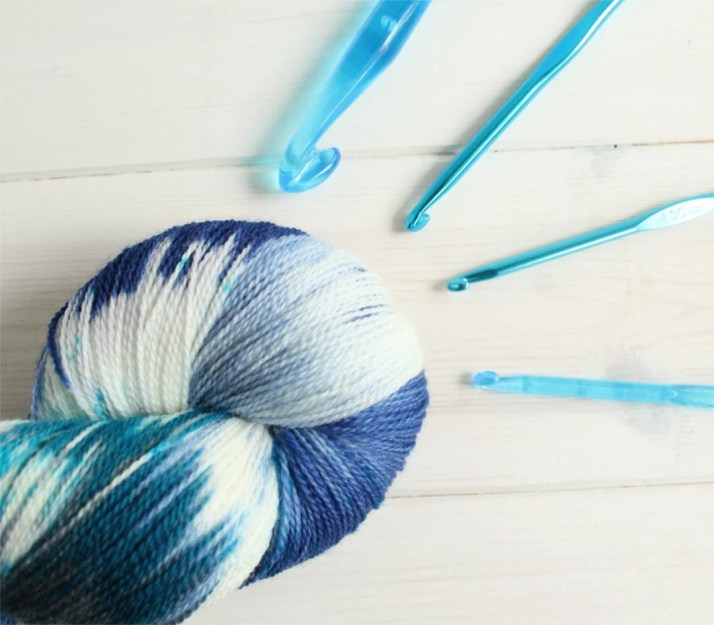 Hand dyed yarn Chloe is B...