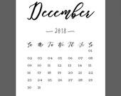 December Calendar 2018 Pr...