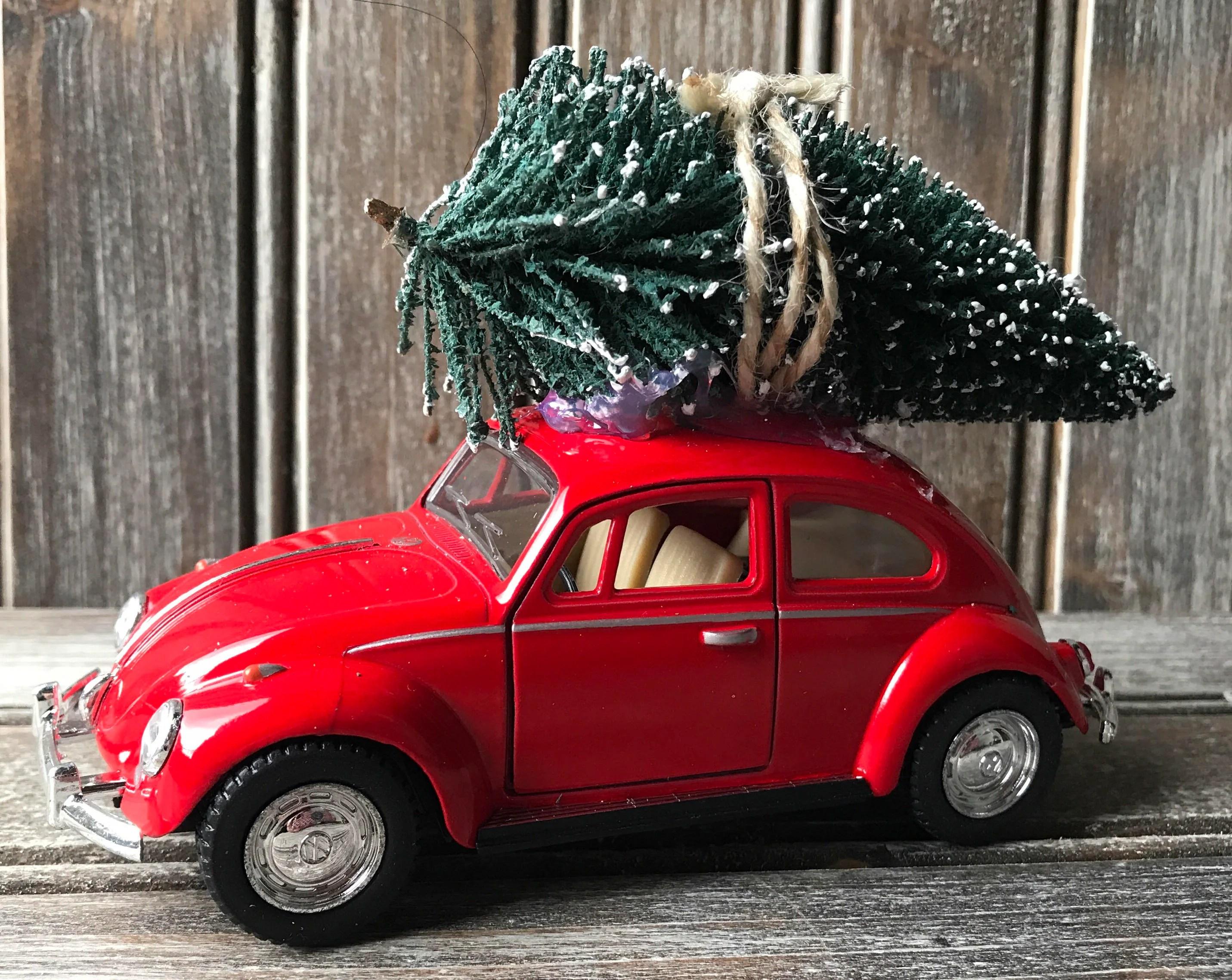 Diecast VW Bug With Christmas Tree Christmas Tree VW Beetle