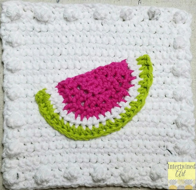 Crochet Watermelon Appliq...