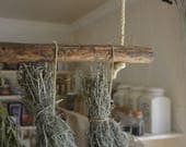 Rustic hanging Rod as dec...