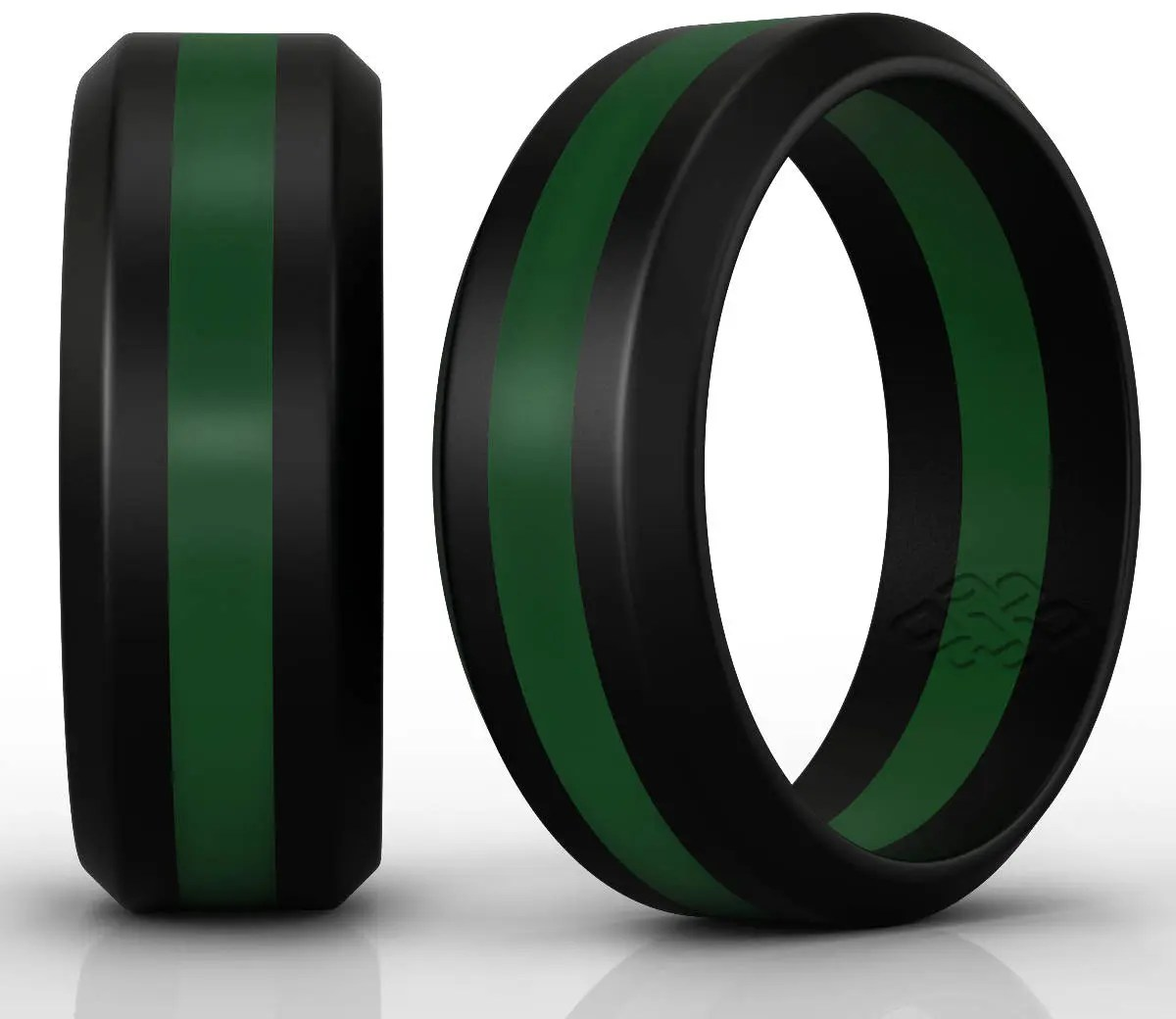 Silicone Wedding Ring Band By Knot Theory Black 6mm 8mm