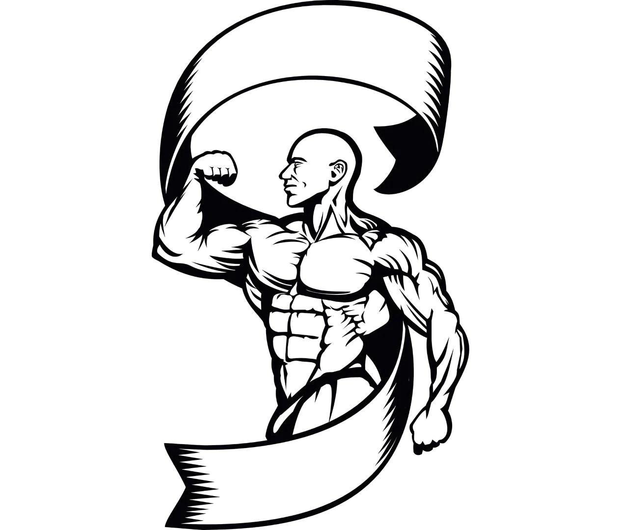 Bodybuilding Logo 7 Bodybuilder Banner Weightlifting Fitness