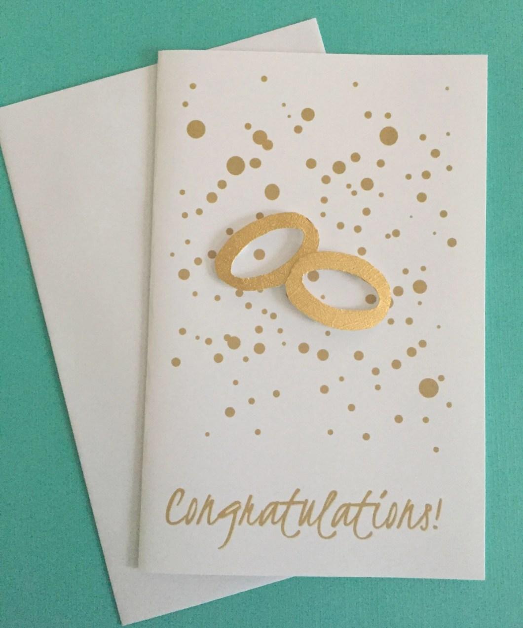 Wedding congratulations, ...