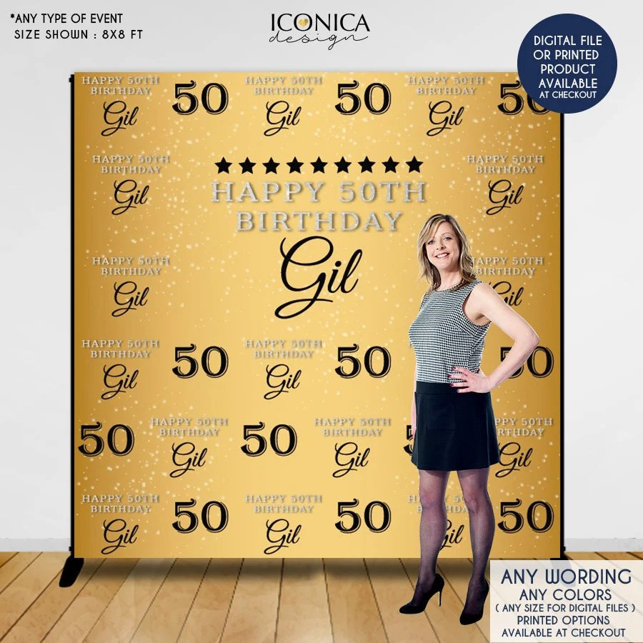 Personalized Birthday Birthday 60 Backdrops