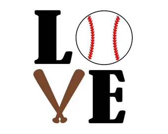 Download Love baseball svg | Etsy