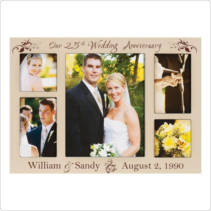 25th wedding anniversary photo frame engraved frameviewjdi org