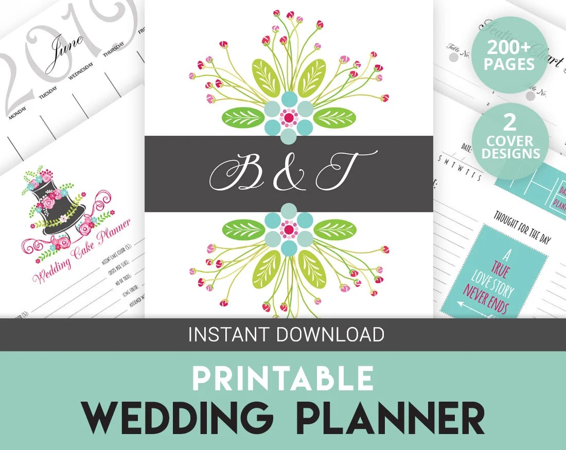 Wedding Binder Wedding Organizer Printable Planner