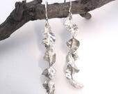 Leaf Silver Earrings, Sil...