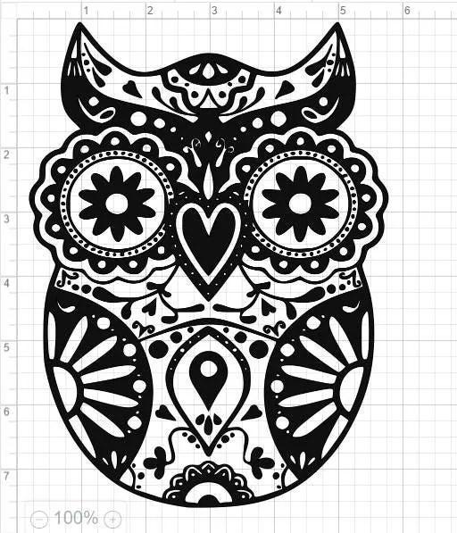 Download Mandala Style Owl SVG PDF EPS Dxf & Studio 3 Cut Files