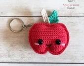 Kawaii Apple Keychain Cro...