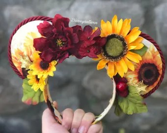 Image result for flower and garden mickey ears