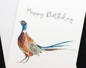 Pheasant birthday card, H...