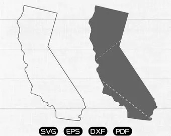 Download California state svg | Etsy