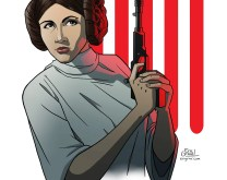 Princess Leia Fan Art Print
