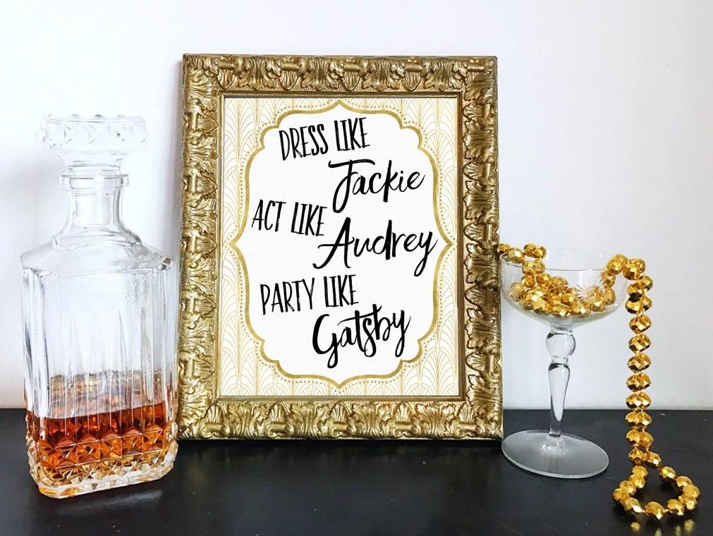 Printable Act Like Audrey...