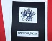 Black and white flower pr...