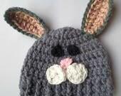 Crochet bunny hat baby to...