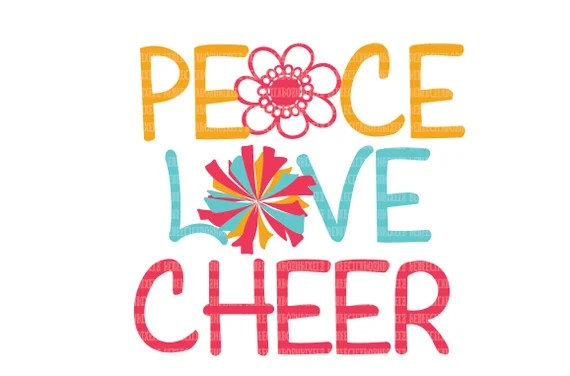 Download Peace Love Cheer SVG Files for Circuit Design Space and