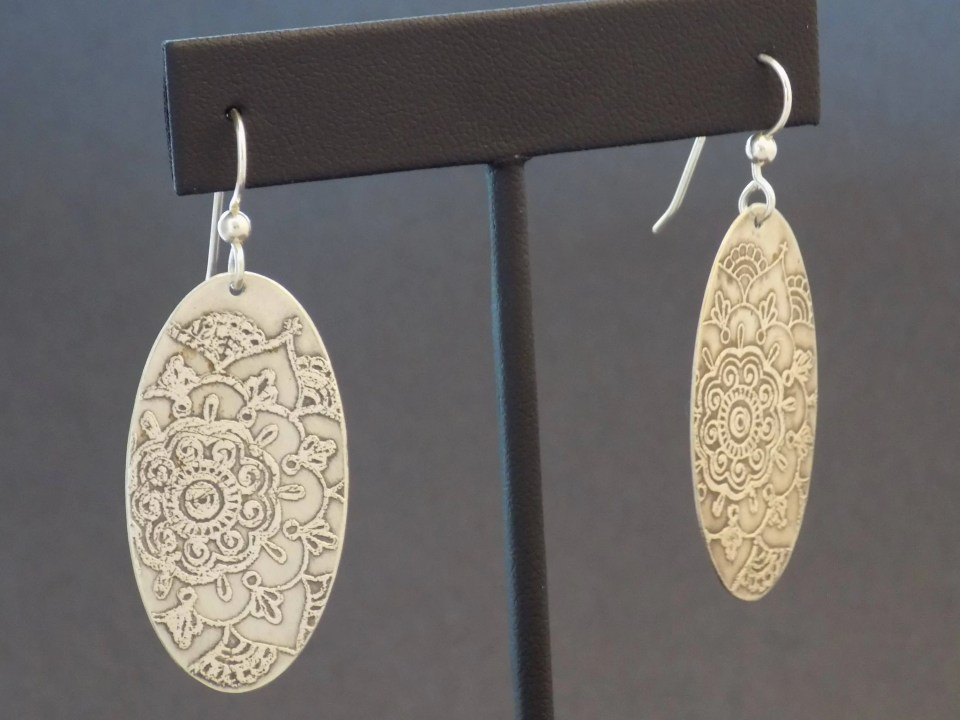 Sterling Silver Etched Ma...