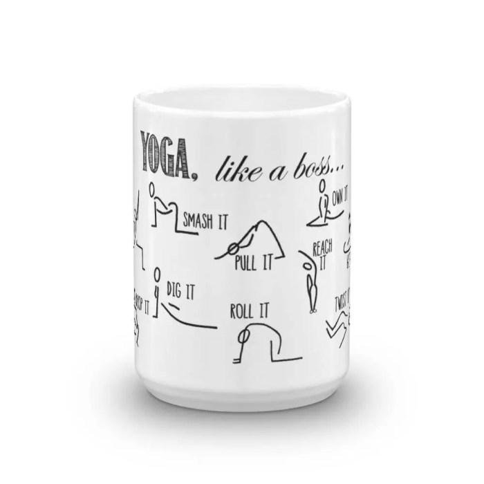 Mug, YOGA like a boss. Co...