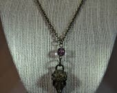 Bird Skull Necklace with ...