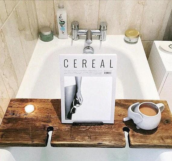 Wood Bath Board Bath Tray Book Holder Tablet Holder
