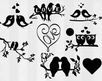 Download Bird silhouette art   Etsy