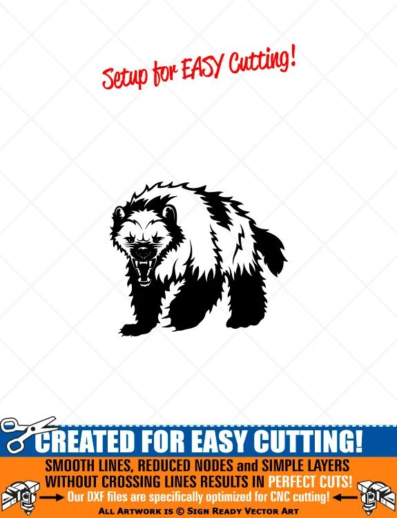 Wolverine Clipart Etsy