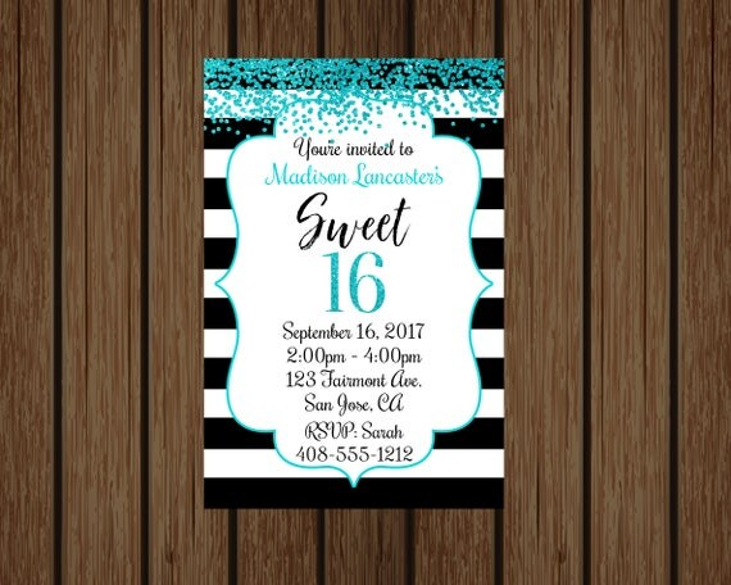 Kinko S Sweet 16 Birthday Invitations