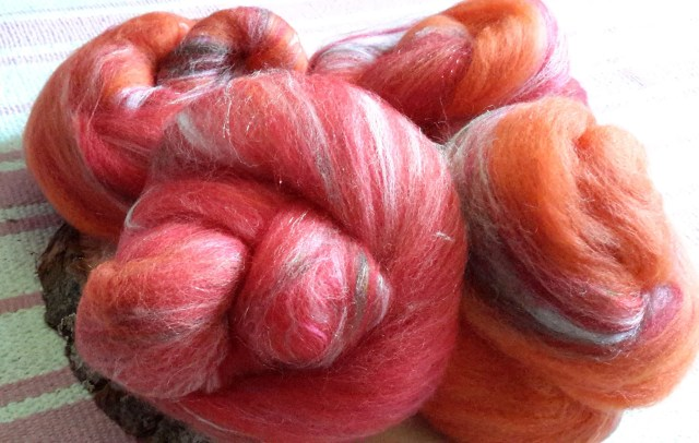 Not An Emergency Rockin' Rolly batt set - soft mixed fibers for spinning, fiber arts